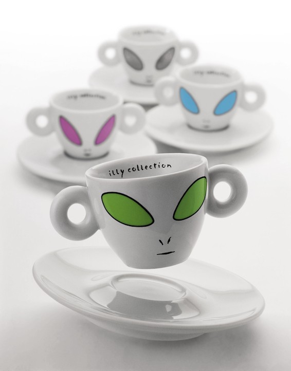 David Byrne - Alien Cups - illy Art Collection