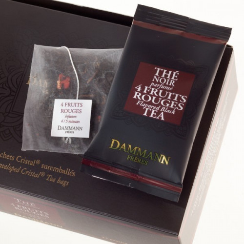 "Dammann, ""4 Fruits Rouges"" kristályfilteres fekete tea, 24 db - EspressoShop.hu"